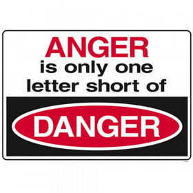 Anger is only one letter? ARGUS? Poster