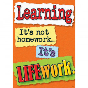 Learning Its Not Homework Large Poster