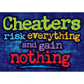 Cheaters Risk Everything And Gain Nothing Argus Large Poster