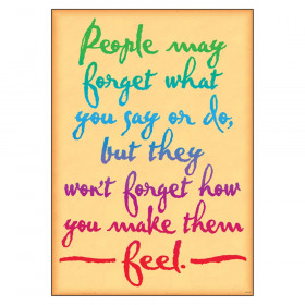 "People may forget what you... ARGUS Poster, 13.375"" x 19"""
