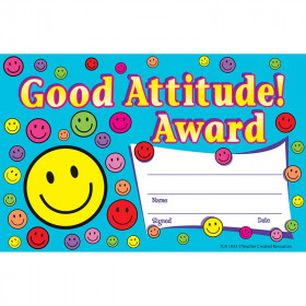 Good Attitude Awards 25Pk 8-1/2 X 5-1/2