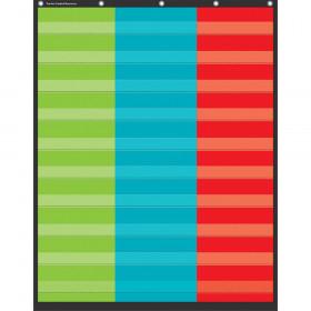 "3 Column Pocket Chart, 34"" x 44"""