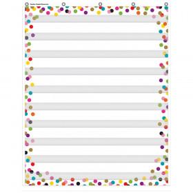 """Confetti 10 Pocket Chart, 34"""" x 44"""""""