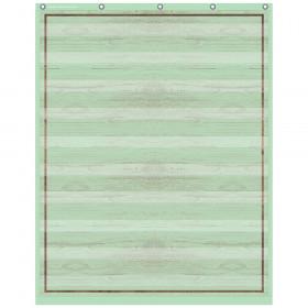 "Mint Painted Wood 10 Pocket Chart, 34"" x 44"""