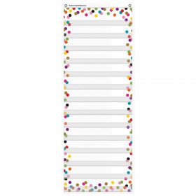 """Confetti 14 Pocket Daily Schedule Pocket Chart, 13"""" x 34"""""""