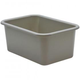 Gray Small Plastic Storage Bin