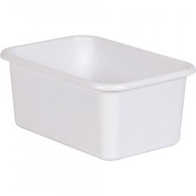 White Small Plastic Storage Bin