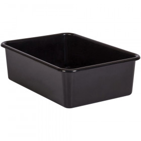 Black Large Plastic Storage Bin
