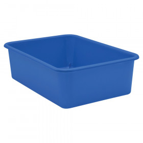 Blue Large Plastic Storage Bin