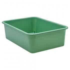 Eucalyptus Green Large Plastic Storage Bin