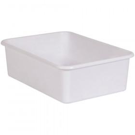 White Large Plastic Storage Bin