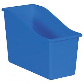 Blue Plastic Book Bin