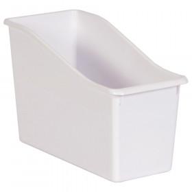 White Plastic Book Bin