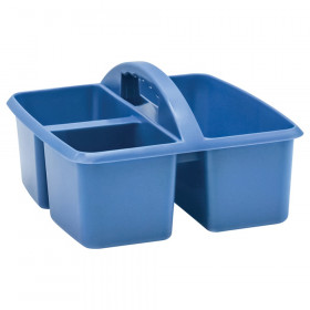 Slate Blue Plastic Storage Caddy