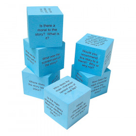 Foam Reading Comprehension Cubes, Pack of 6