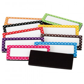 Polka Dots Magnetic Labels, Pack of 30