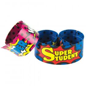 Superhero Super Student Slap Bracelets, 10/Pack