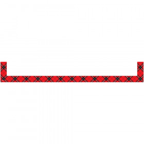 Red Plaid Magnetic Pockets - Large
