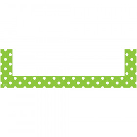 Lime Polka Dots Magnetic Pockets - Small