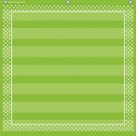 "Lime Polka Dots 7 Pocket Chart (28"" x 28"")"