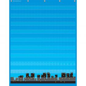 "Superhero 10 Pocket Chart (34"" x 44"")"