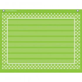 "Lime Polka Dots Mini Pocket Chart (17"" x 22"")"