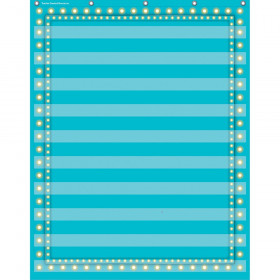 "Light Blue Marquee 10 Pocket Chart (34"" x 44"")"