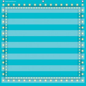 "Light Blue Marquee 7 Pocket Chart (28"" x 28"")"