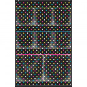 "Chalkboard Brights 8 Pocket Small Storage Pocket Chart (15"" x 23"")"