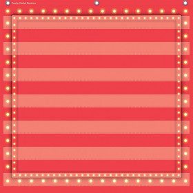 Red Marquee 7 Pocket Chart (28 x 28)