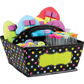 "Chalkboard Brights Storage Caddy, 9"" x 9"" x 6"""