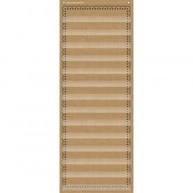 "14-Pocket Pocket Chart, Burlap, 13"" x 34"""