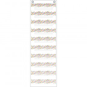 "File Storage Pocket Chart, 10 Pockets, Confetti, 14"" x 58"""
