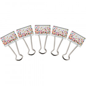 Confetti Binder Clips, Medium