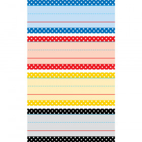 Polka Dots Word Strips Classic Colors