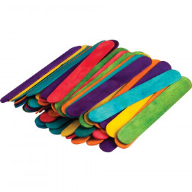 STEM Basics: Multicolor Jumbo Craft Sticks, 200 Pieces