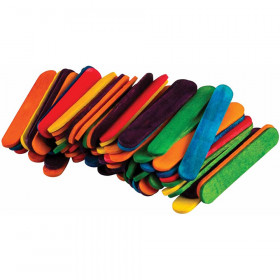 STEM Basics: Multicolor Mini Craft Sticks - 100 Count