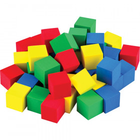 Multicolor 3/4In Foam Cubes 40 Ct Stem Basics