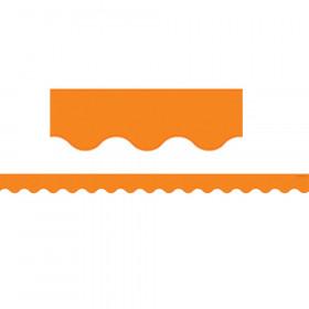 Orange Scalloped Border Trim
