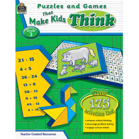Puzzles And Games That Make Kids Think Gr-3