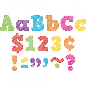 """Scribble Bold Block 4"""" Letters Combo Pack"""