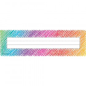 Colorful Scribble Name Plates