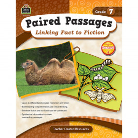 Paired Passages Linking Fact to Fiction Book, Grade 7