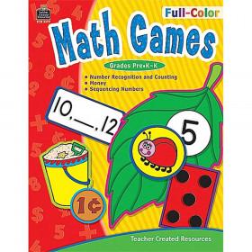 Full-Color Math Games Gr Pk-K