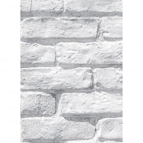 Better Than Paper Bulletin Board Roll, 4' x 12', White Brick, 4 Rolls