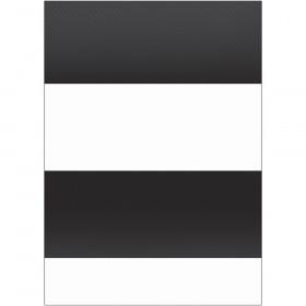 Better Than Paper Bulletin Board Roll, 4' x 12', Black & White Stripes, 4 Rolls