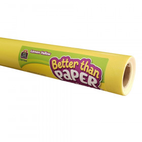 Lemon Yellow Better Than Paper Bulletin Board Roll, Pack of 4