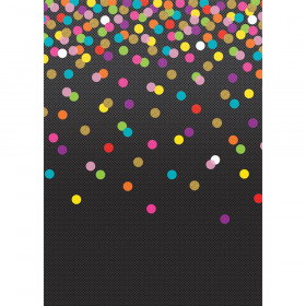 Better Than Paper Bulletin Board Roll, 4' x 12', Colorful Confetti on Black, 4 Rolls