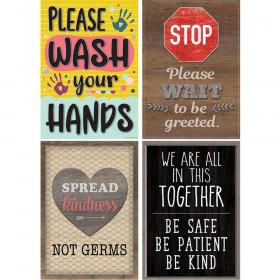 Health & Safety Poster Set, Set of 4