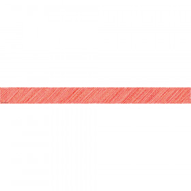 Red Scribble Straight Border Trim